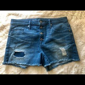 Missimo high rise denim shorts